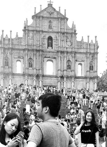 Ruins Of St.Paul's Macau Landmark UNESCO World Heritage Site Tourists Travelphotography Streetphotography