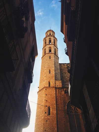 Low Angle View Of Santa Maria Del Mar Against Sky In City