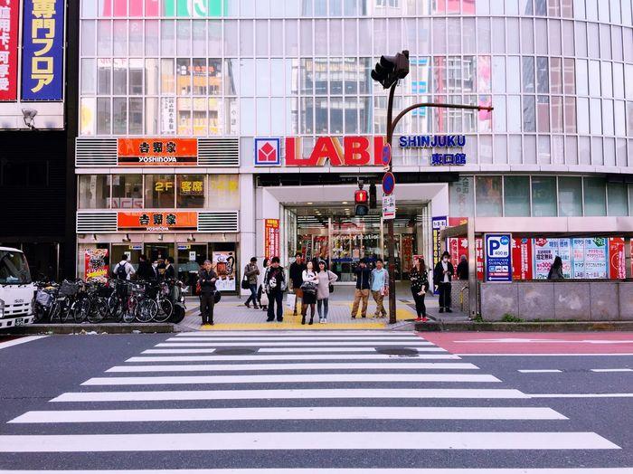 Ultimate Japan Shinjuku City Japan Photography Passerby Waiting For Traffic Light.