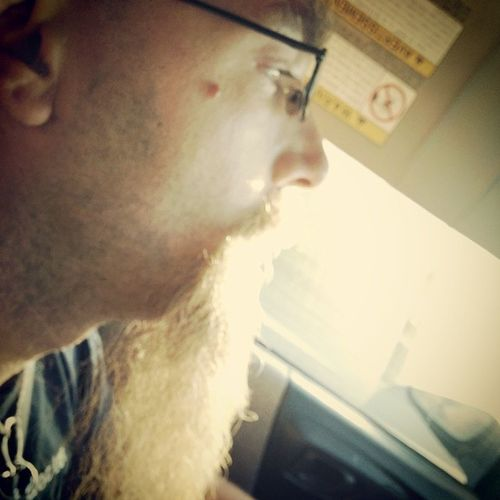 Glowy beard! Roadtrip Traveling Silly
