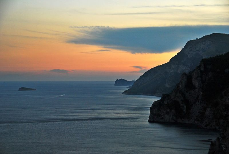 Positano, Italy Beauty In Nature Day Horizon Over Water Nature No People Outdoors Scenics Sea Sky Sunset Tranquil Scene Tranquility Water