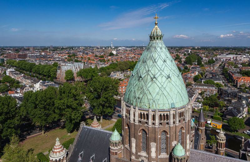 Haarlem cityscape aerial view from the St Bavo Cathedral Building Exterior Architecture Built Structure City Building Cityscape Sky High Angle View Place Of Worship Travel Destinations Religion Residential District Crowded Belief TOWNSCAPE Dome Outdoors Town Haarlem Netherlands Holland Noord Holland Nederland Reinaroundtheglobe Dutch Sunshine No People