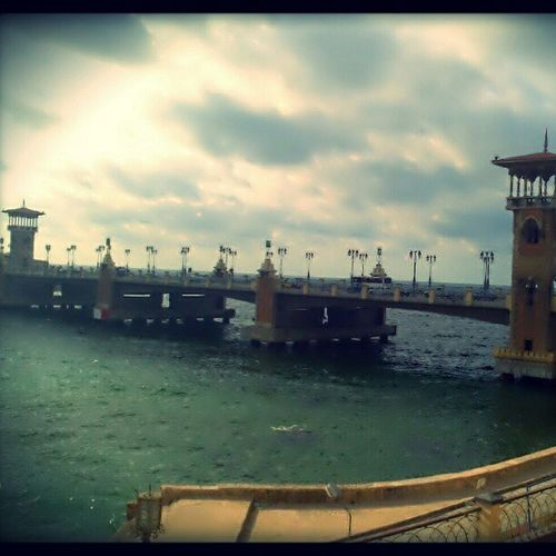 Stanley bridge, Alexandria Egypt Alexandria Bridge Instagram instagood colorful winter sea pxlrexpressmobilephotography mobileshot