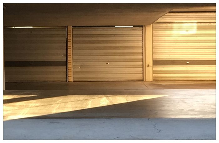Garages late afternoon Brisbane 8 January 2016 IPhone 6s+ Pictureshown Brisbane