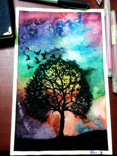 Carry on doing what i love Galaxy Art, Drawing, Creativity Watetcolor Peace And Quiet