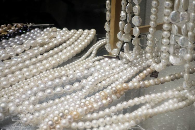 Bride Wedding Birthday Jewelry Pearl Jewelry Necklace Luxury Fashion Elégance Precious Gem Gift Pearls Natural Women Girls White Rich Various Wealth White Color Variation Business Silver Colored Valentine's Day  Abundance Large Group Of Objects Retail  Industry Bead Jeweller