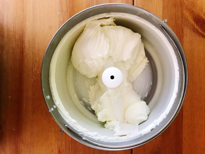 EyeEm Selects Ice Cream Homemade Ice Cream Vanilla Ice Cream  Yoghurt Ice Cream Frozen Yogurt Food And Drink Indoors  Table Food High Angle View Directly Above Plate Dumpling  Freshness No People Close-up Temptation Ready-to-eat Healthy Eating Day