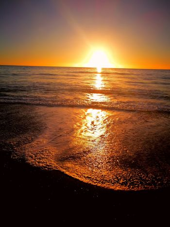 Sea Sunset Sky Outdoors Beauty In Nature Water Landscape