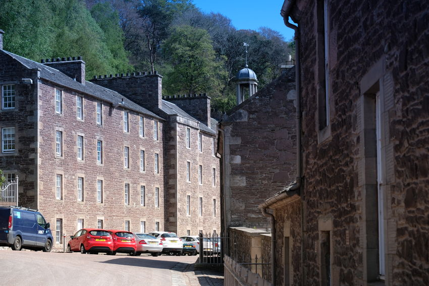 Historical Building Historical Sights Historical Village New Lanark River Clyde Robert Owen Scotland World Heritage Site By UNESCO