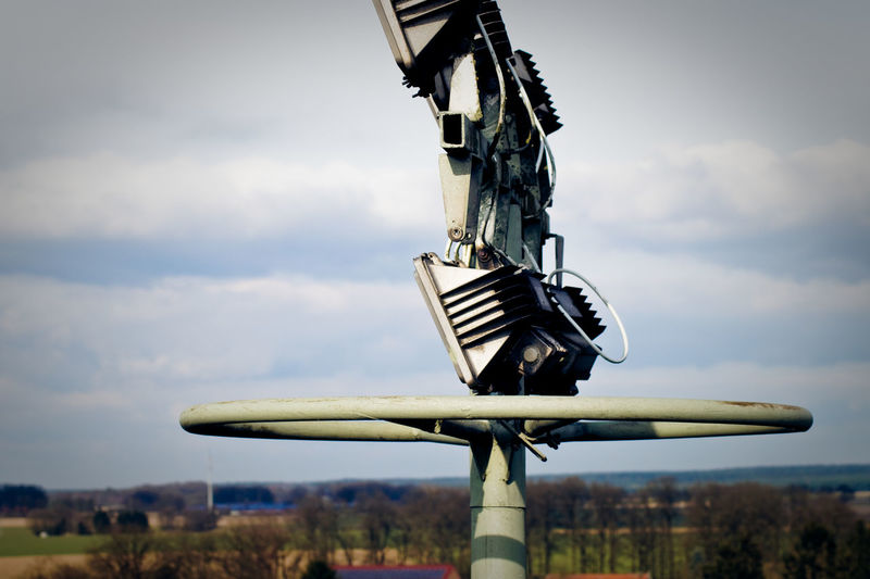 Close-Up Floodlight In Playground
