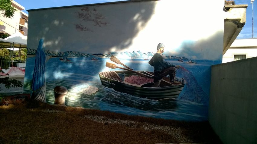 Nautical Vessel Day Sunlight Shadow Outdoors Mural Art Mural Paintings Sardinia Sardegna Italy