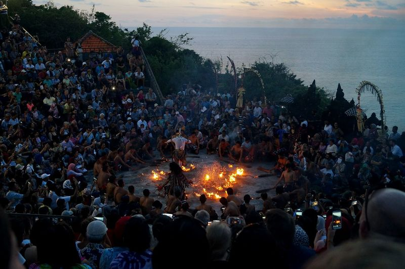 A spectaculer balinese dance Large Group Of People Celebration Crowd Sky Real People Tradition Leisure Activity Illuminated Outdoors Lifestyles Watching Tree Audience People Adult Day Carnival Crowds And Details EyeEmNewHere