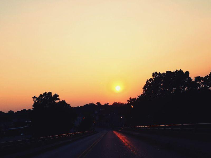 Samsung Galaxy S6 Camera Shadows & Lights Connellsville Sunset Silhouette