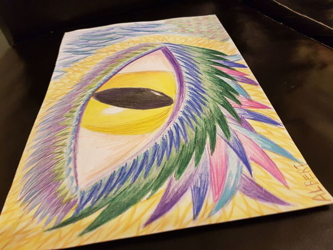 Multi Colored No People Close-up NatureYellow Eye's Dragon Eye's Looking At You♡ Drawing Eye's Are Always Watching You Green Color Blue ArtWork Taking Photos Purple Creativity