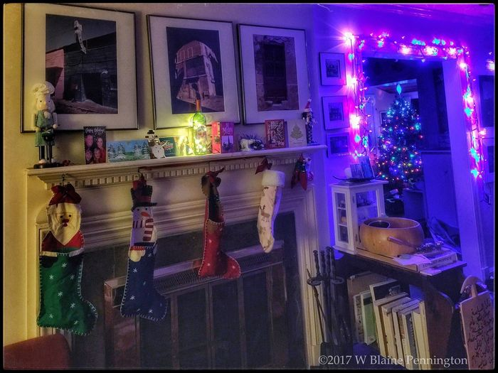 """Christmas Eve, """"visions of sugarplums dance in their heads..."""" ChristmasEve2017 Illuminated Night Indoors"""