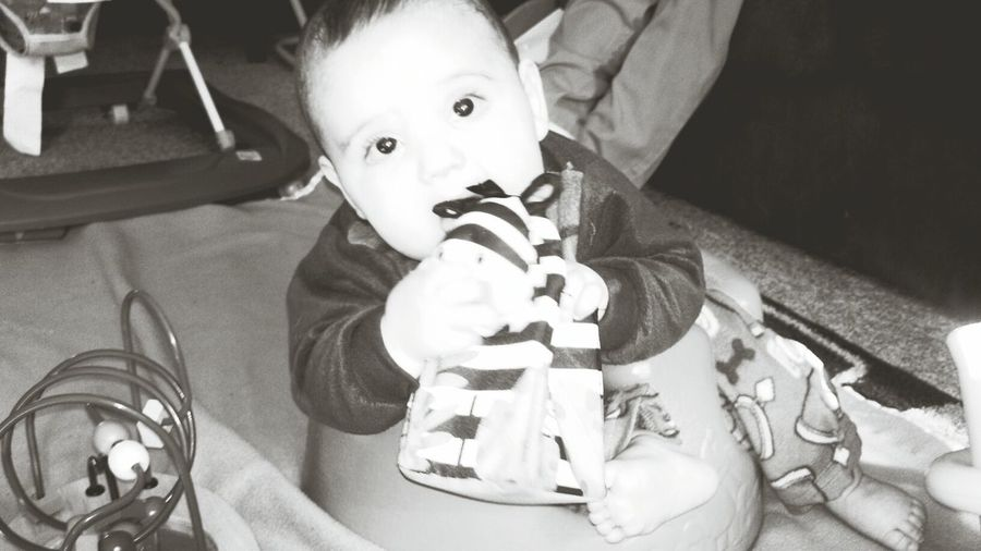 My Gorgeous Boy[: Blacknwhite HisToys HisLazyDay ScoobyDooPjs
