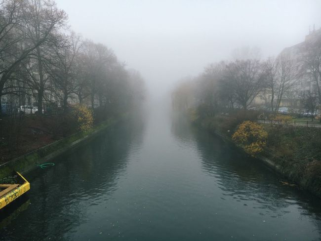 Canal Fog Water Winter