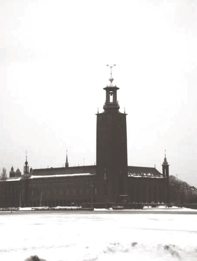 Architecture Cold Temperature Winter Tower Stockholm, Sweden Snowy Beautiful City My View Black And White Traveling Travel Photography