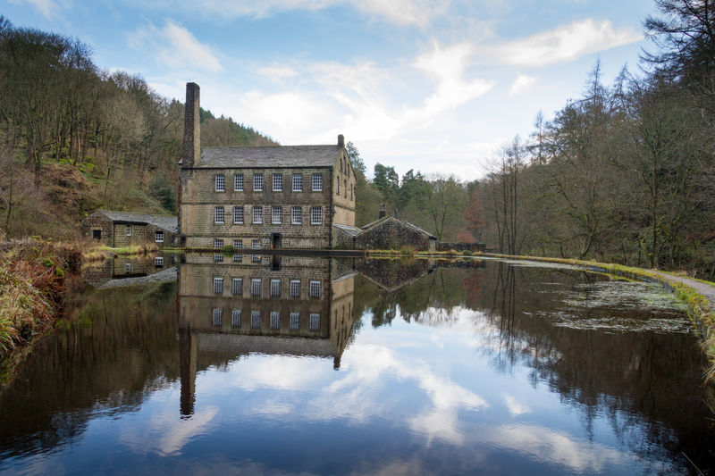 Gibson Mill, Hardcastle Crags, Yorkshire. Cotton Mill Landscape Mill Nature Outdoors Reflection Reflection Symmetry Tranquility Water The Great Outdoors - 2017 EyeEm Awards The Great Outdoors - 2017 EyeEm Awards