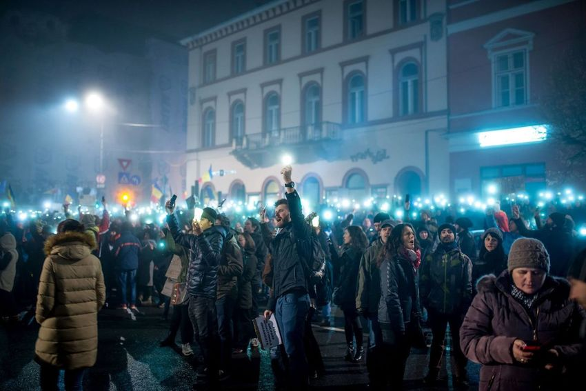 "Pictures taken in public during the revolution of light. This ""revolution"" was the people reaction to a law given by the current government (the socialist party with Liviu Dragnea as their leader) (called ""OUG 13"") that decriminalized corruption. For 12 days, people all over Romania went to the streets, at some point there were even 600.000 peacefull protesters, with kids, humor, irony and sarcasm. We re-defined the way protests are held. Her eyou can see some pictures of these events. This is on-going, even if the law was retracted by the government. We are fed up with Corruption, and this was just the start. #rezist Future Is Not Yours No Corruption No More Corruption No Violence Noaptea Ca Hotii Peace Protesting Remove OUG 13 Revolution Of Light Rezist Romania Romania Is Not Sleeping Togheter We Stand Up We Will Not Give In We Woke Up"