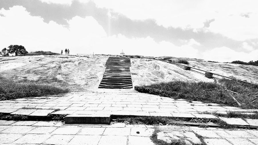 Outdoors Sky B&w Photography Stairs High Area Black And White Friday