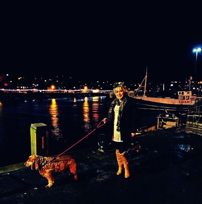 Night Illuminated One Person Full Length Water One Woman Only Adults Only Only Women People City Nautical Vessel Young Adult One Young Woman Only Bridge - Man Made Structure Outdoors Architecture Sky Adult Whitby Harbour EyeEmNewHere Travel Destinations Whitby North Yorkshire cockerspaniel