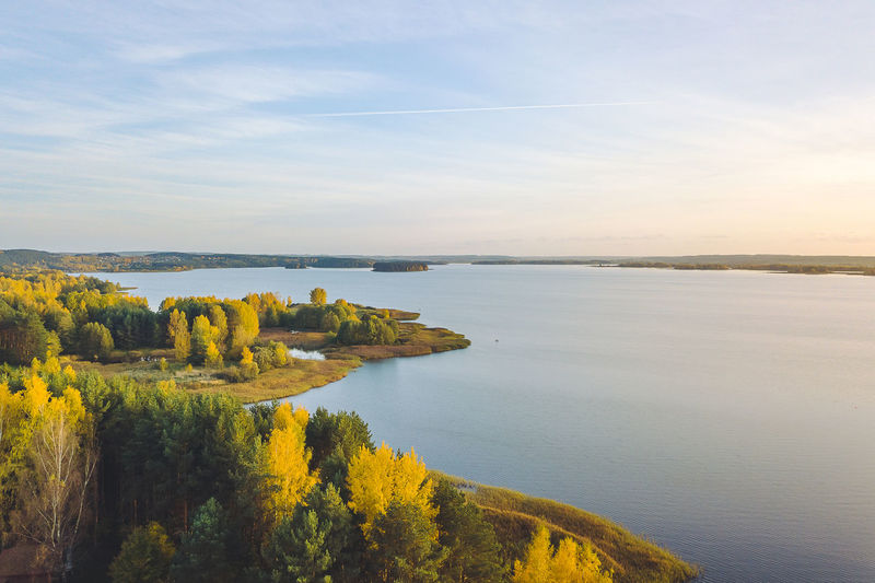 Autumn landscape, aerial view, Lithuania Aerial Shot Autumn Landscape Drone  Aerial View Beauty In Nature Day Drone Photography Horizon Over Water Landscape Mavic Mavic Pro Nature No People Outdoors Scenics Sea Sky Sunset Tranquil Scene Tranquility Tree Water