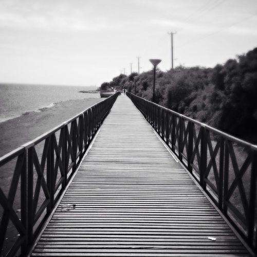 Footbridge over sea