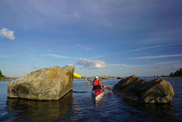 Kayaking Evening Sunny Island Hanging Out Nature Sea And Sky Relaxing