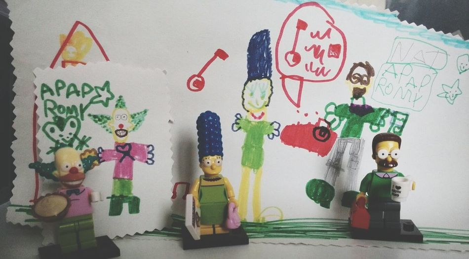 Lego Simpsons Drawing 6 Years Old My Daughter