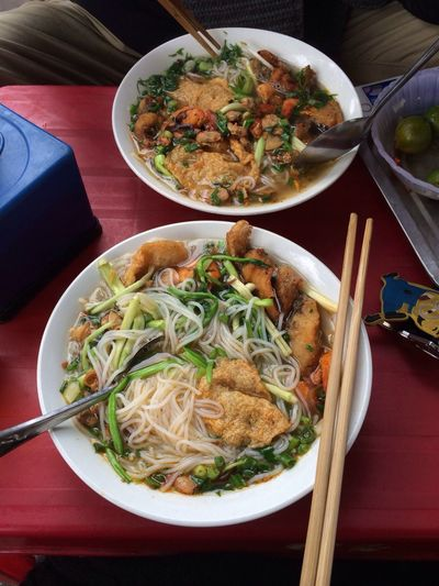 Chủ nhật làm tý hải sản Seafood Noodle Have Lunch With Friend Hanging Out Vietnamese Food
