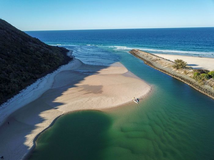 Tides out Queensland Australia Burleigh Drone  Dronephotography National Park River Gold Coast Beautiful Creek Sandbar Water Wave Clear Sky Sand Dune Sea Beach Sand Nautical Vessel Shadow Aerial View Tide Low Tide Seascape Coastal Feature Horizon Over Water Headland Coast