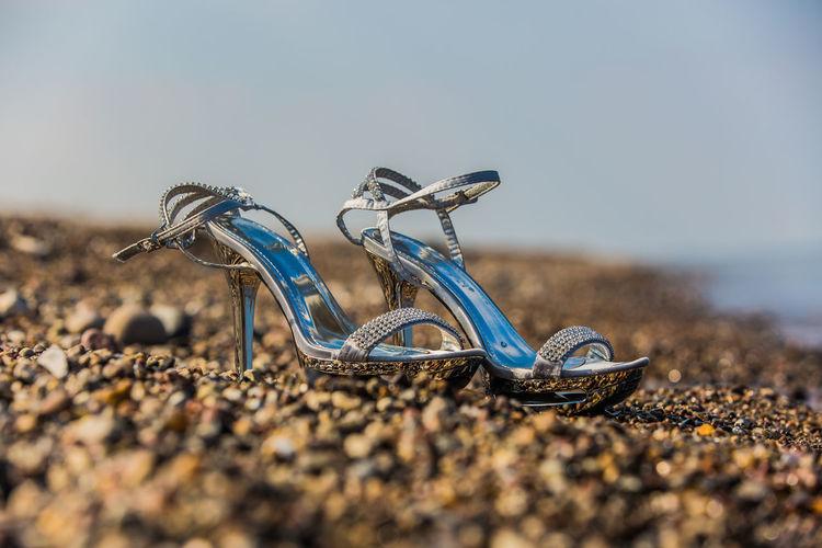 Heels on beach