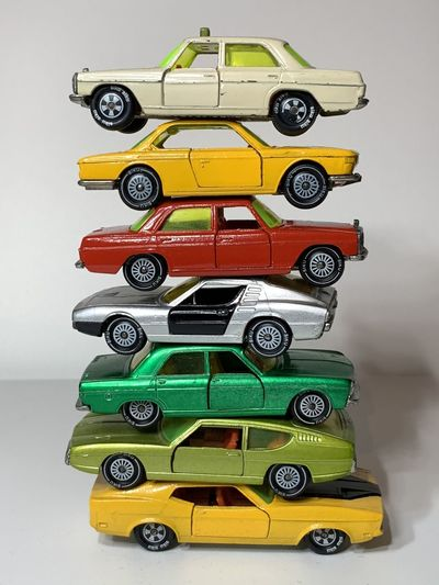Close-up of multi colored toy car