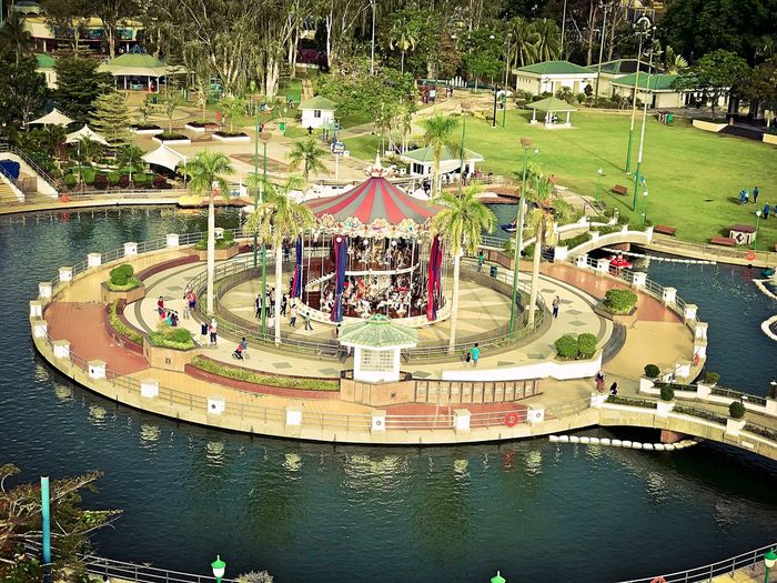 High Angle View View From Above Leisure Activity View From The Top Theme Park Urban Escape Urban Life Style Grand Carousel Carousel
