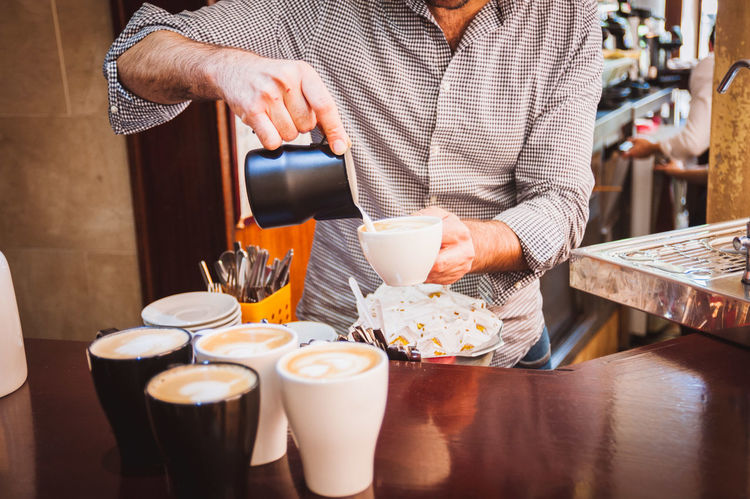 Cafe Coffee Coffee Break Coffee Cup Coffeeshop Drink Espresso Espresso Machine Europe Focus On Foreground Froth Art Latte Latteart Lifestyle Local Business Pastry Refreshment