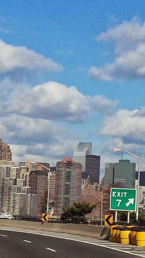 Blue Sky. NYC