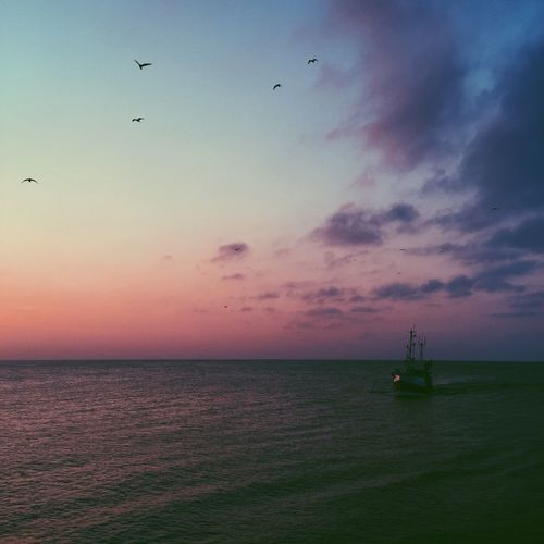 Sunset Sea Seaside