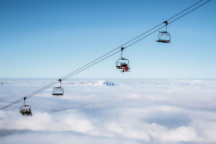 Lift to Heaven Above The Clouds Blue Cloud - Sky Clouds And Sky France Frankreich Heaven Lift Outdoors Skiing Sky