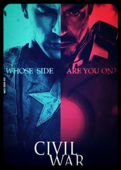 Marvel Official Poster I can't even right now.... Captain America Civil War How Long For 2016?