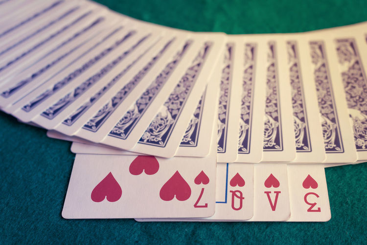 Cards Close-up Creativity Gambling Heart Love Lucky Poker Selective Focus