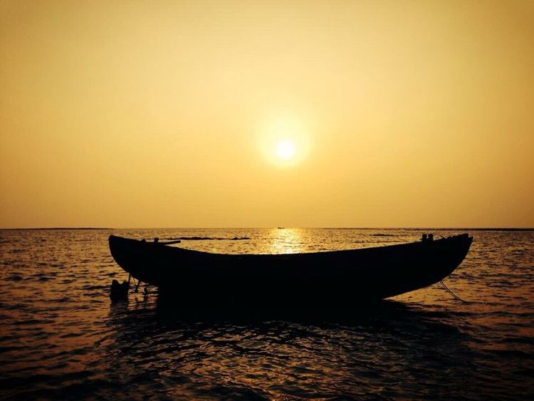 Cox's Bazar Sunset Evening Calm Sea And Sky Sea And Sunset Bangladesh