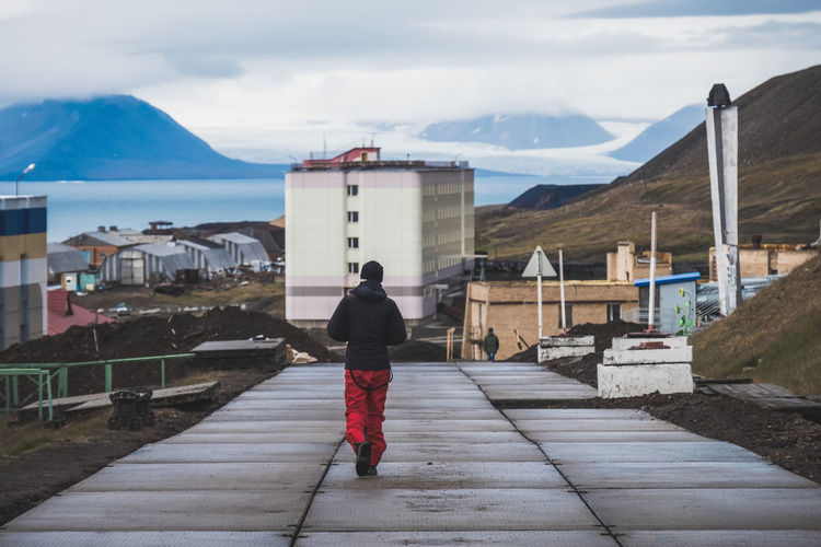 Russian settlement of barentsburg, svalbard