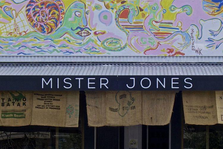 Building Exterior Coffee Bean Sacks Facade Building Facade Detail Gunny Bags Millennial Pink Mural Mural Art Shop Shop Facade Text