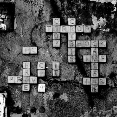 Blackandwhite Blackandwhite Photography The Street Photographer - 2015 EyeEm Awards Words Black And White Collection  Crossword Wall Up Close Street Photography
