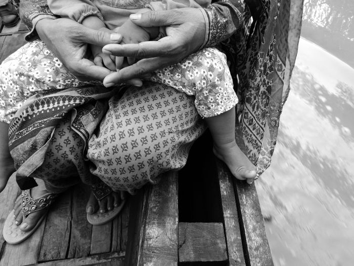 Family love Women Real People Outdoors Bangladesh Nature Boat Water Child Hands Love Unconditional Love