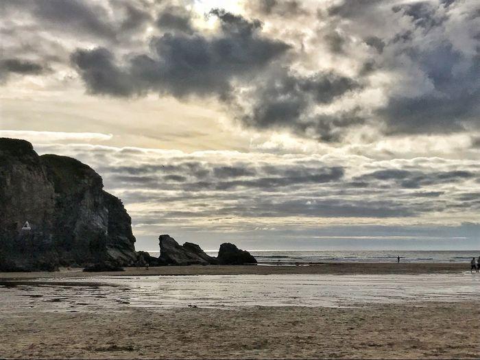 Amazing clouds Cornwall Uk Cornish Life Cornish Landscape Rock - Object Sea Cloud - Sky Nature Rock Formation Beach Scenics Outdoors Horizon Over Water Sand Sun Going Down Evening Sky