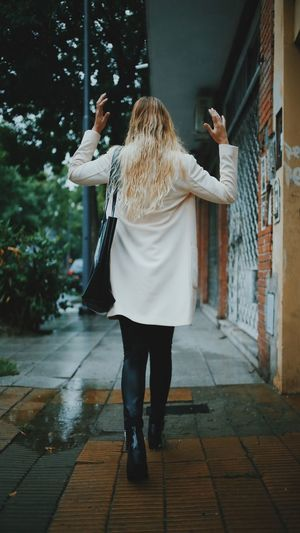 Day One Person Outdoors People Rainy Rainy Days Walker Women