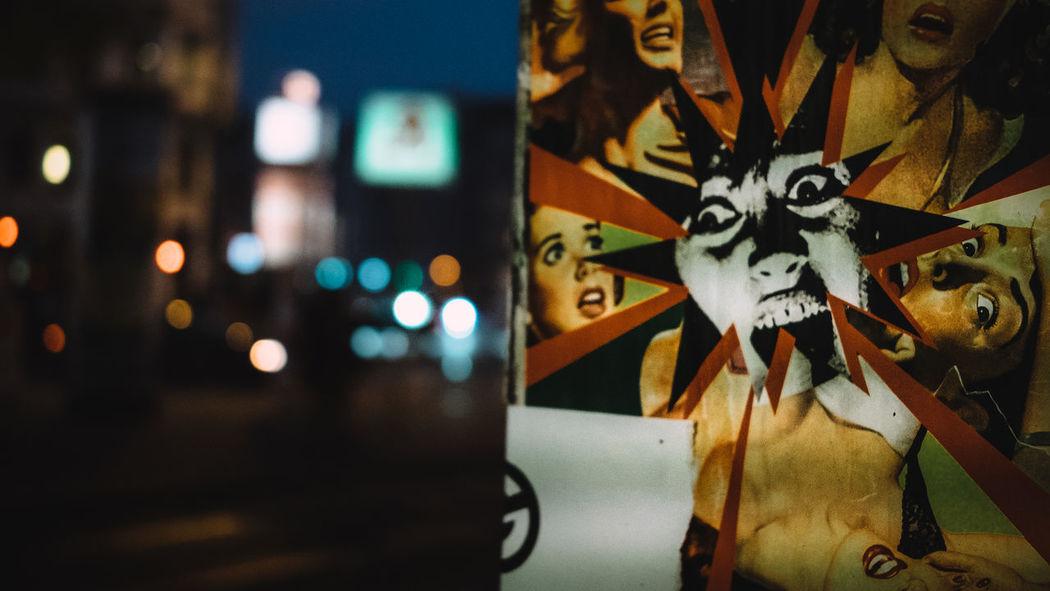 It's Monday. Don't panic. Berlin Berlin Photography Berlinstagram Bokeh City Life City Lights Dark Monday Mondaymorning Panic Retro Street Street Photography Streetphotography Terror Urban Vintage Capture Berlin