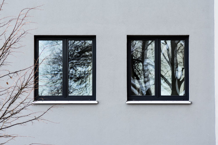 windows Glass Reflections Sunlight Grey Facade Building Façade Schleswig-Holstein Kappeln Building Decorative Object Hidden Mysterious Winter Tree Window Architecture Built Structure Close-up Window Frame Closed Window Sill 17.62° My Best Photo The Art Of Street Photography